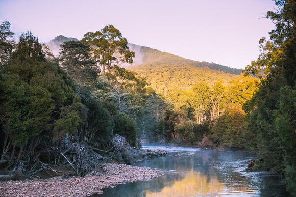 Levin River in the  Loongana valley ,  North West Tasmania.